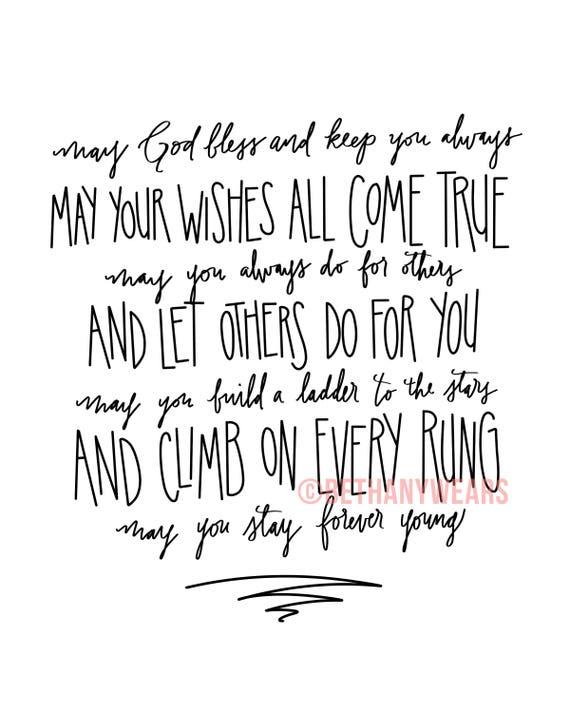 Bob dylan forever young lyrics pdf