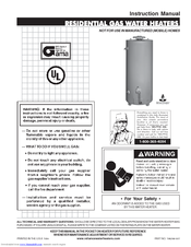 Reliance 606 water heater manual