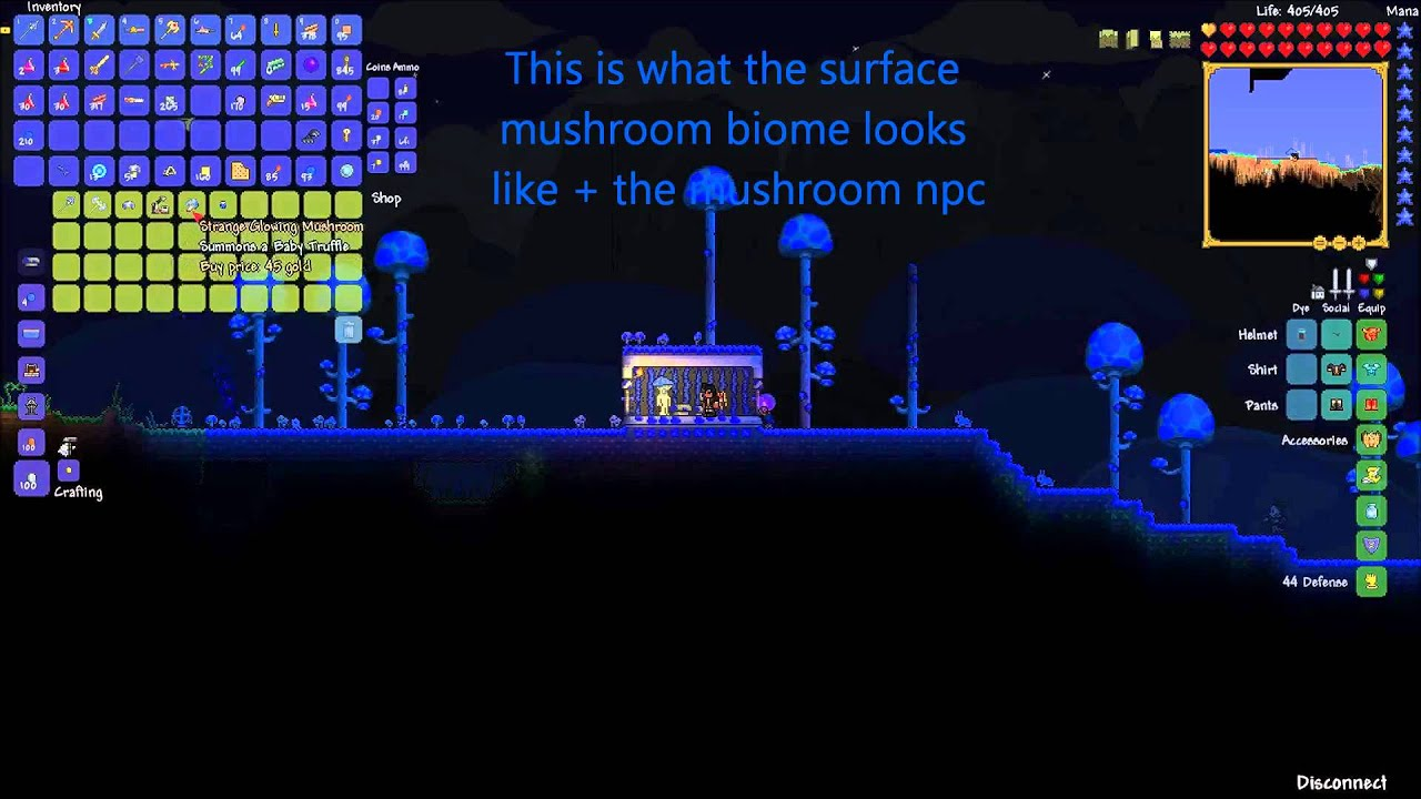 Terraria how to make underground mushroom biome