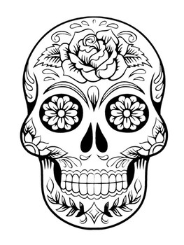 Day of the dead skull template pdf