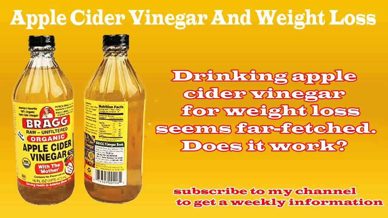 apple cider vinegar instructions for weight loss
