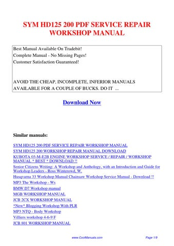 sym 200 hd service manual