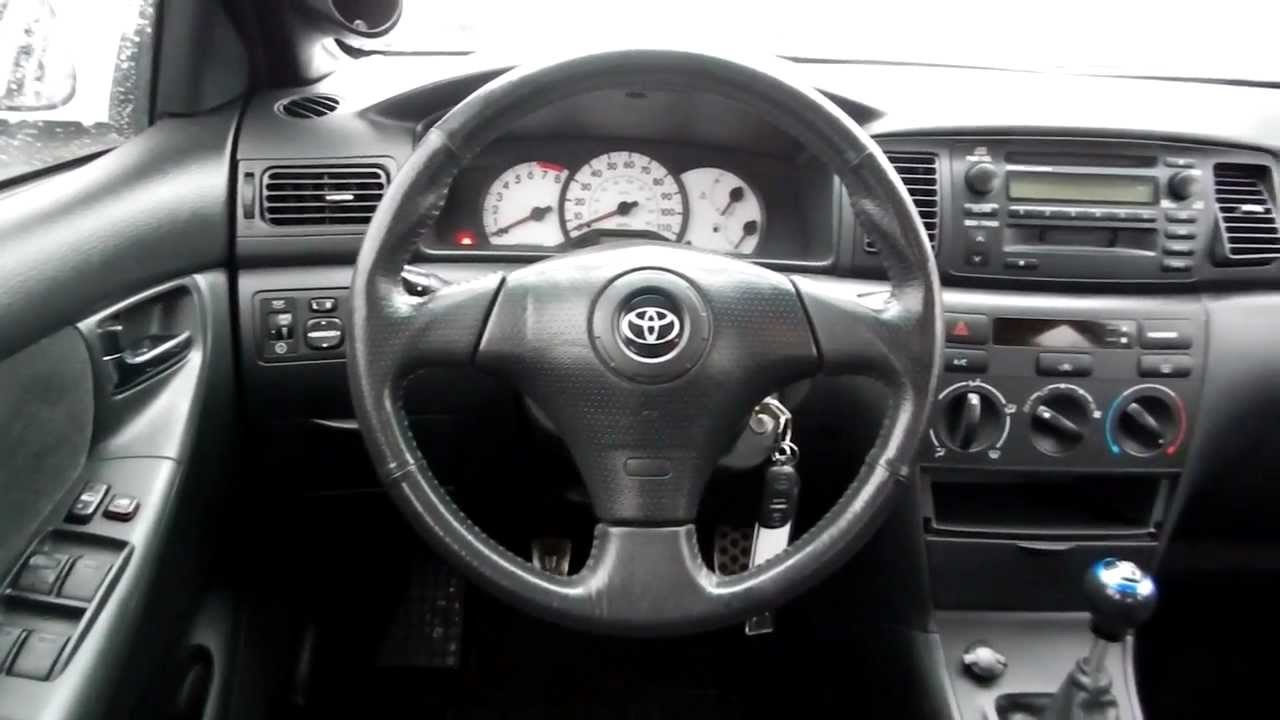 2004 toyota corolla s manual