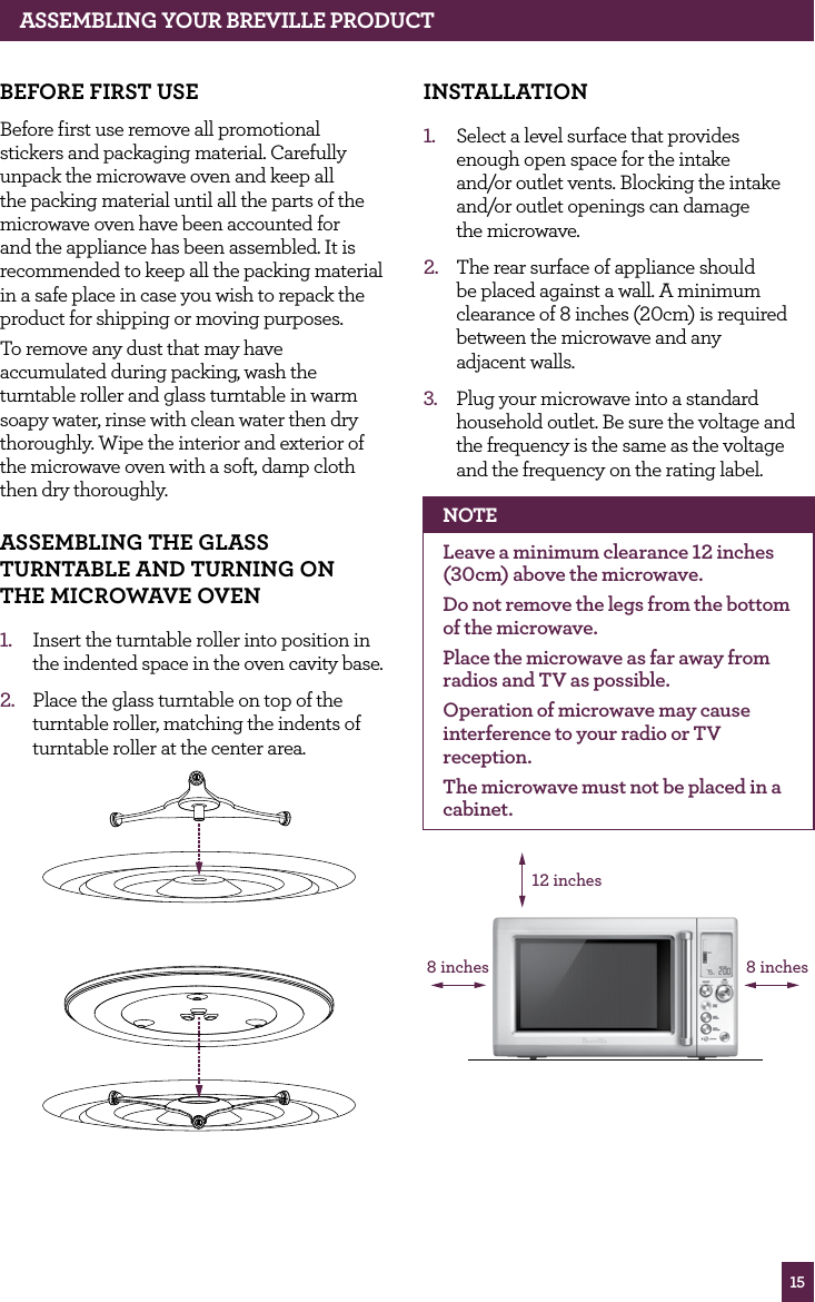 breville microwave instruction manual
