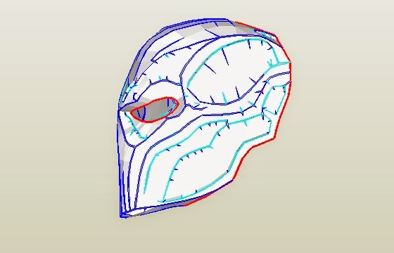 Red hood helmet template pdf