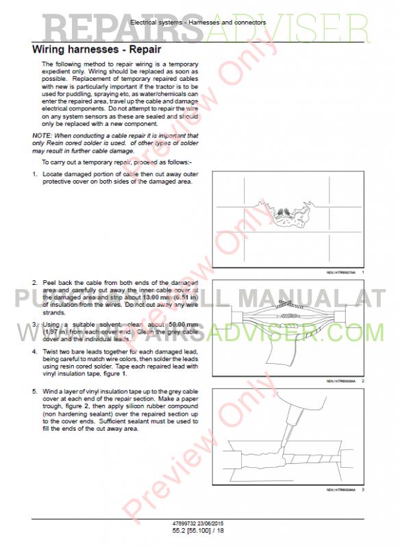 new holland tt75 service manual