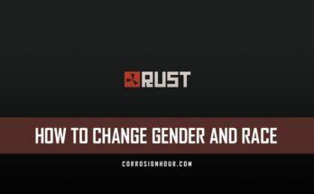 Rust admin how to change gender