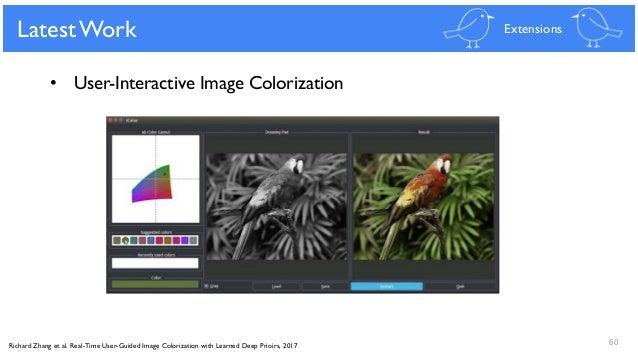 Real-time user guided image colorization