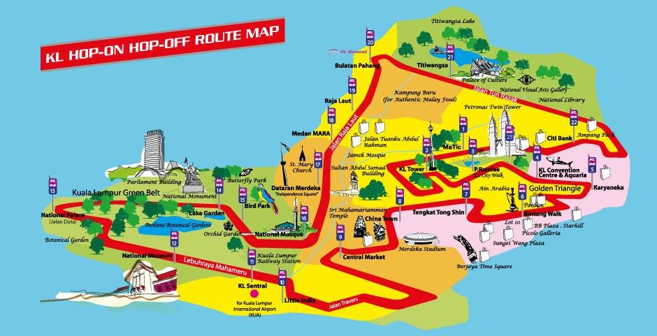 Kuala lumpur tourist guide map pdf