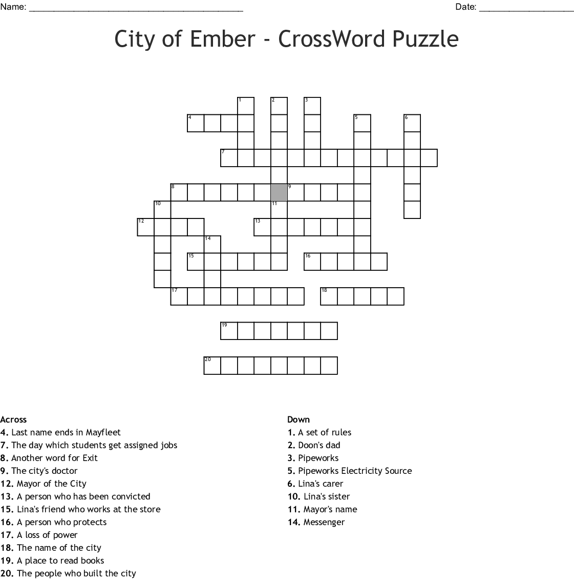 The city of ember instructions for egress