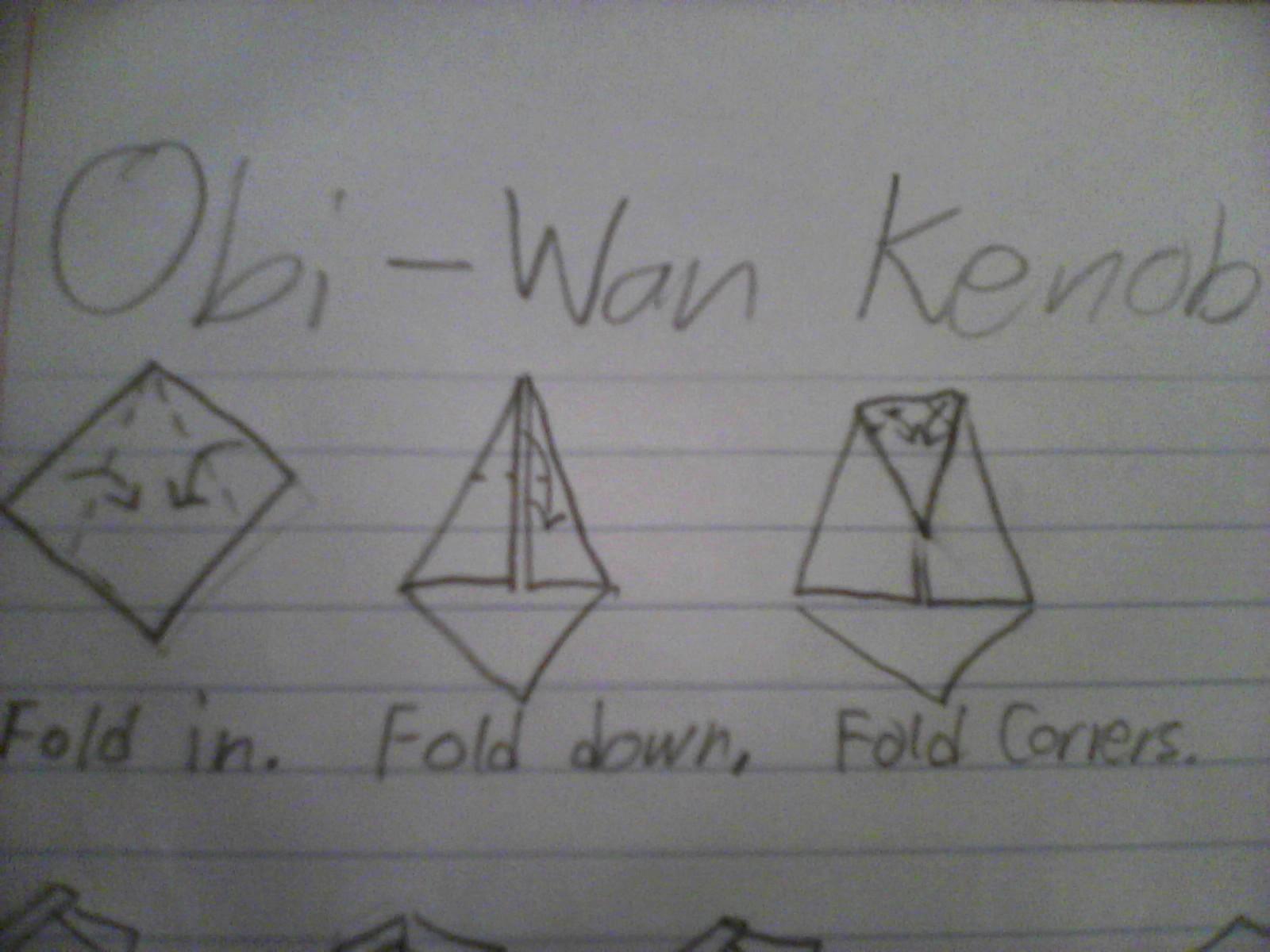 Origami obi wan kenobi instructions