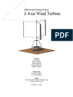 Vertical axis wind turbine pdf