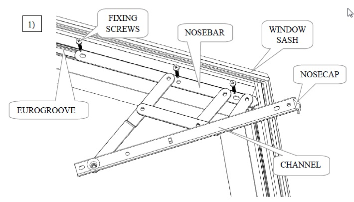 Friction hinge fitting instructions