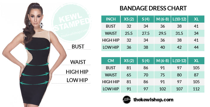 Bust waist hip measurement guide