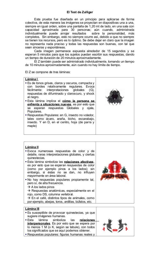 Test de rorschach respuestas correctas pdf