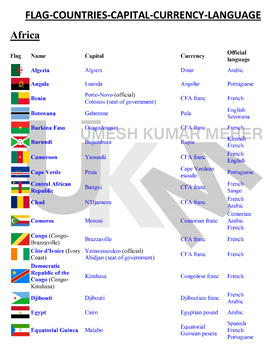 List of all continents and their countries pdf