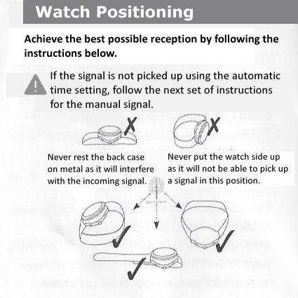 five senses atomic talking watch instructions