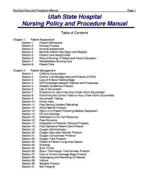 administrative policies and procedures manual template