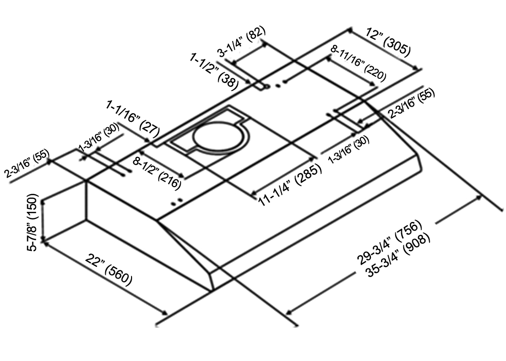 aom range hood instruction manual