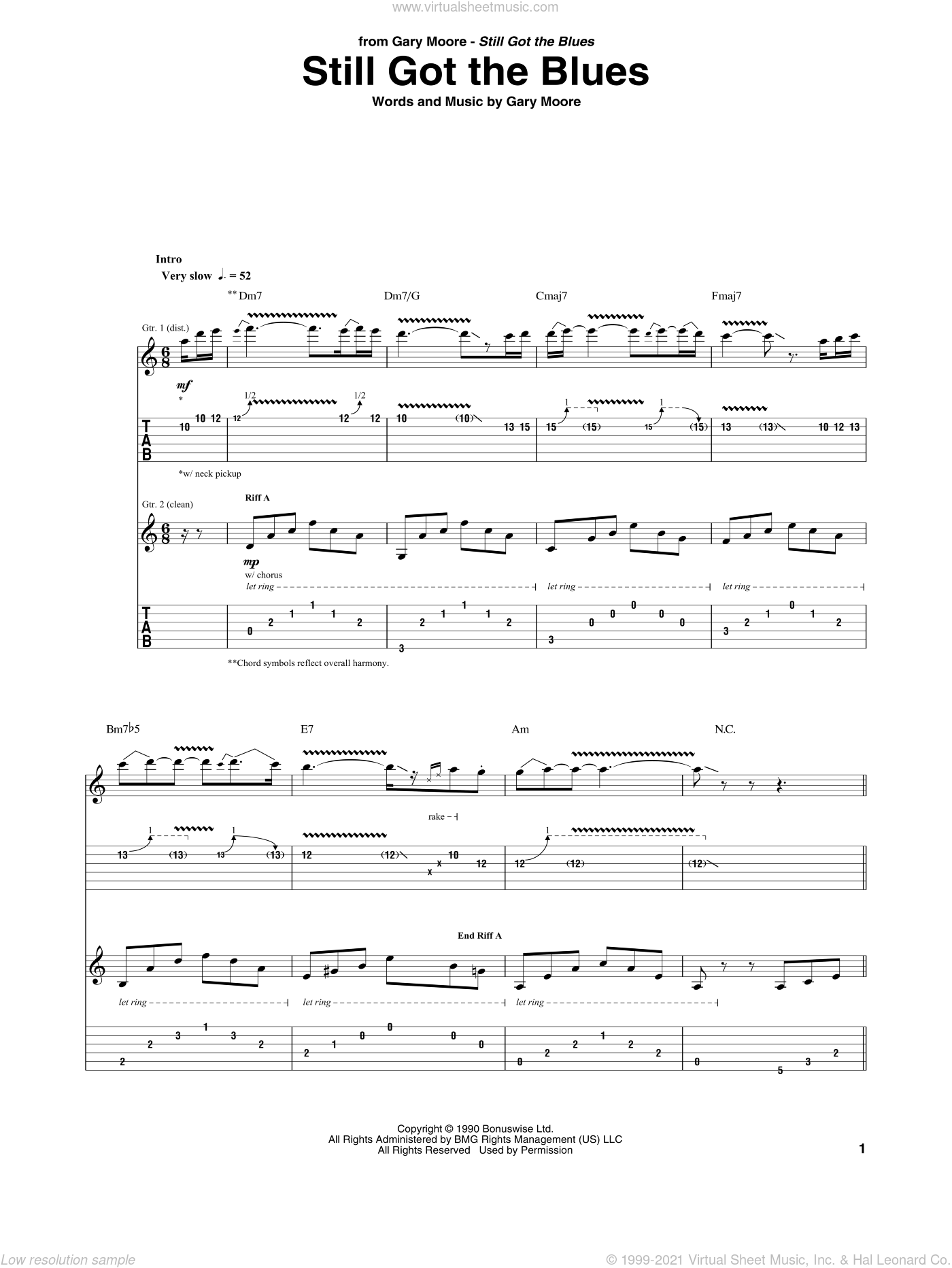 Still got the blues chords pdf