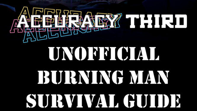Burning man survival guide checklist