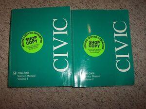 honda civic si 2008 service manual