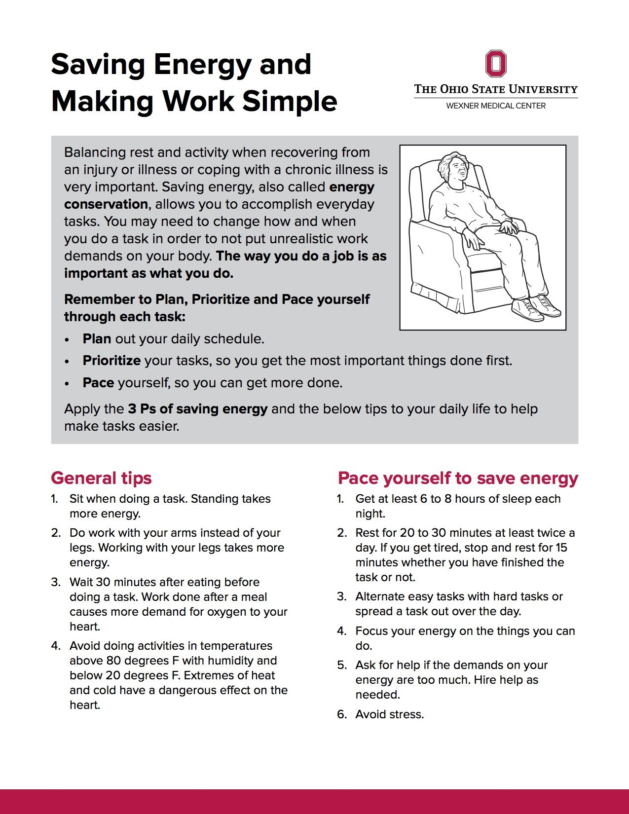 Energy conservation techniques for copd pdf