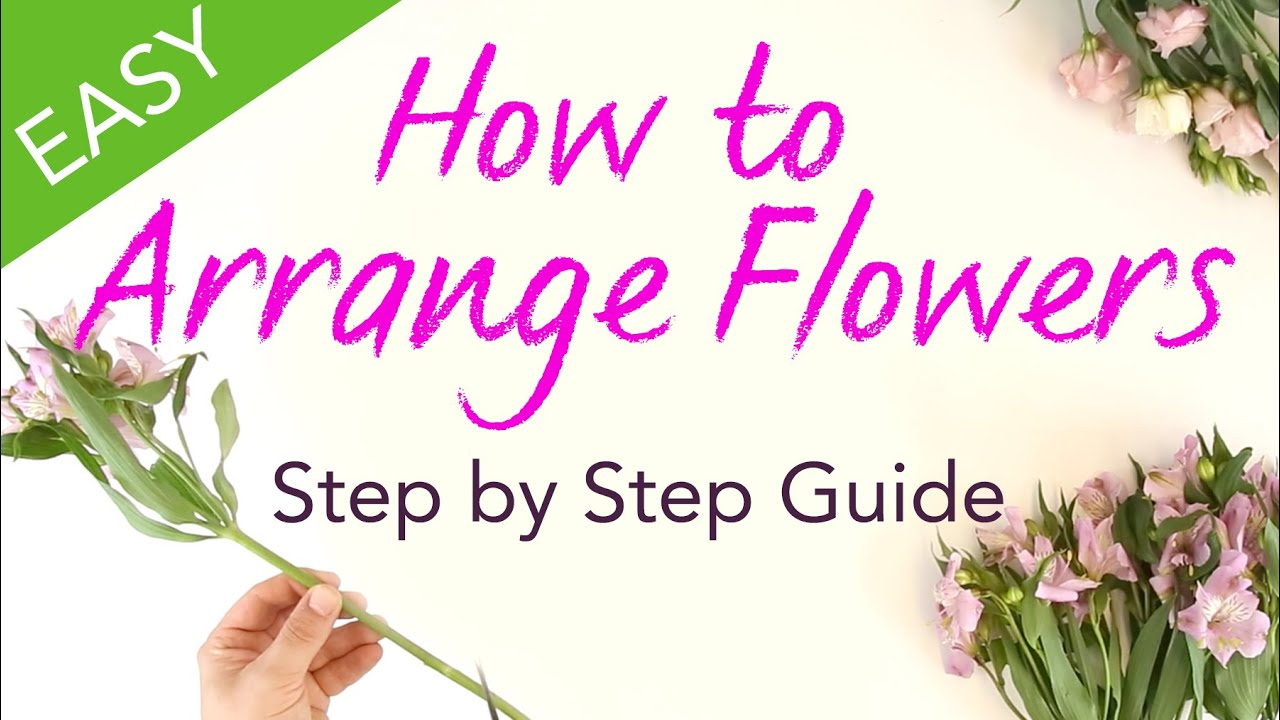 flower arrangement step by step instructions