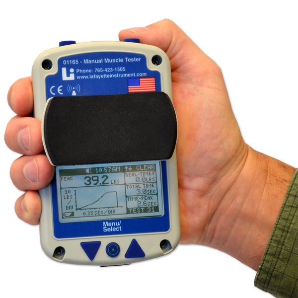 Hand held dynamometer for manual muscle testing