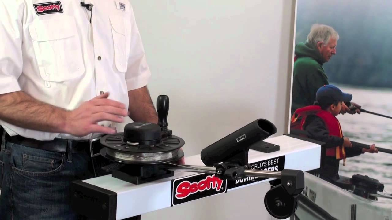 how to use scotty manual downriggers