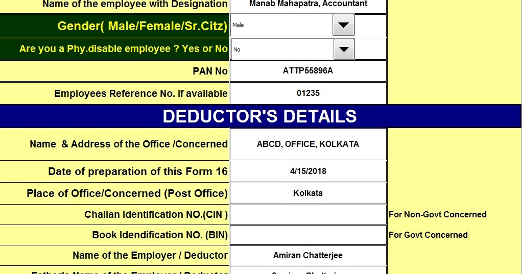 Income tax new form 16