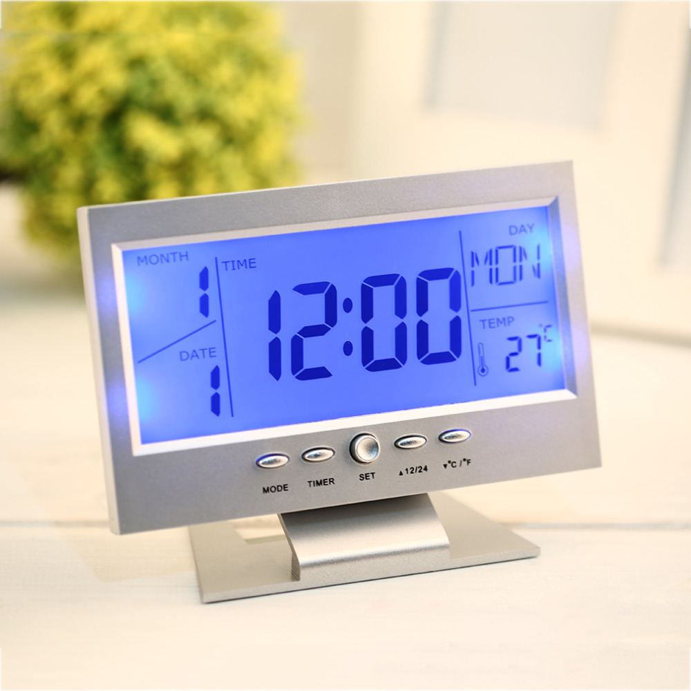 instructions for voice control back-light clock