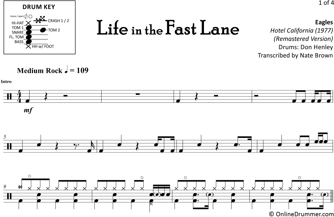 Life in the fast lane tab pdf