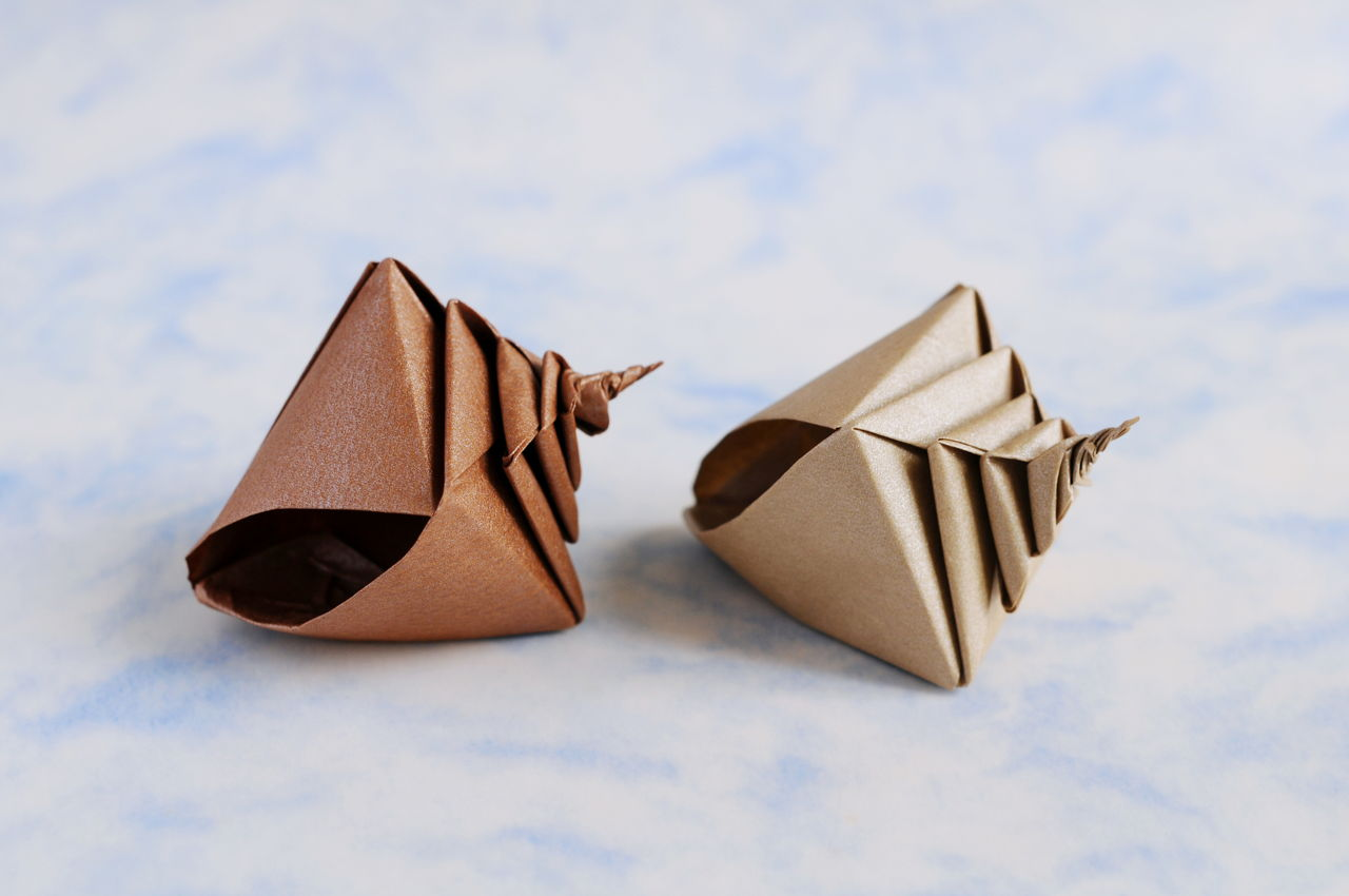 origami shell folding instructions