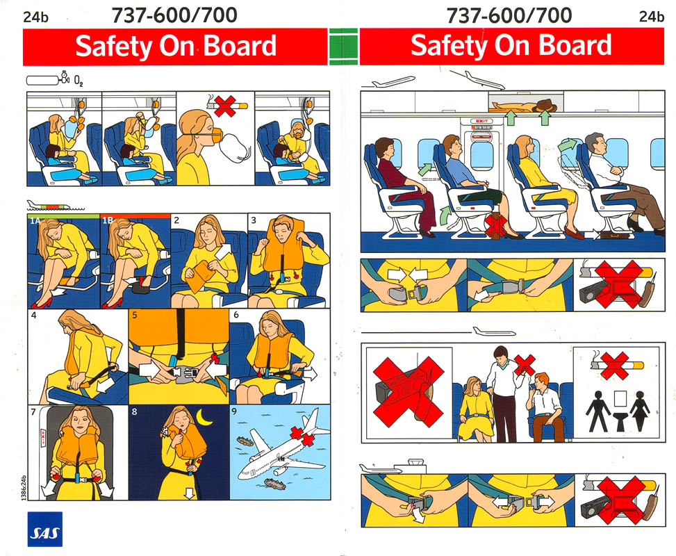 safety instructions airplane audio