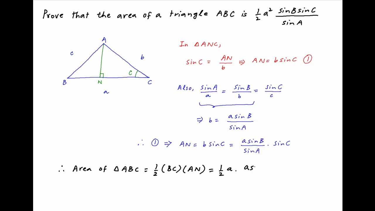 Show me how to find the area of a triangle