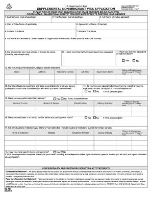 Us ds 160 form pdf