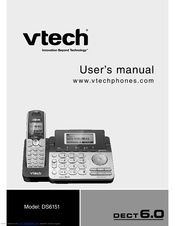 Vtech 2 line cordless phone with answering machine manual